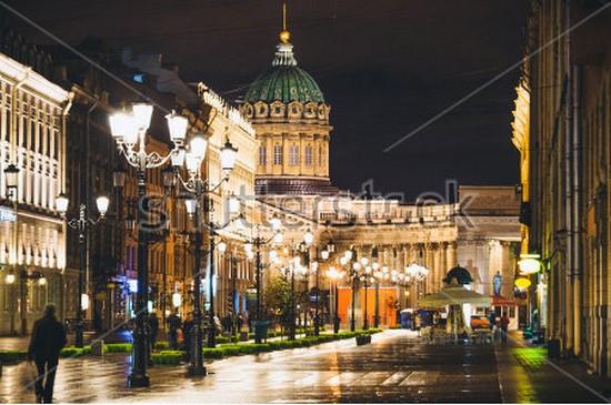 Фотообои Ночной Петербург