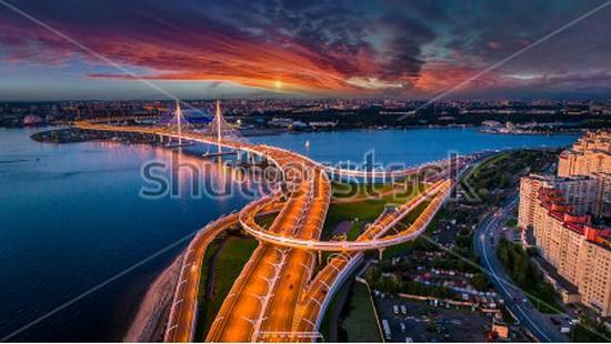 Фотообои Вид на ЗСД в Петербурге