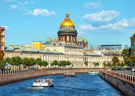 Фотообои Канал с видом на Казанский собор
