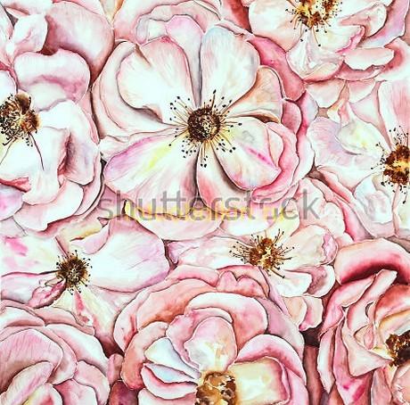 Фотообои Розовые цветы
