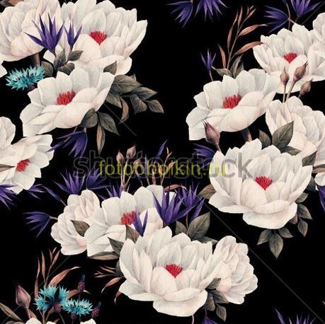 Фотообои Белые цветы