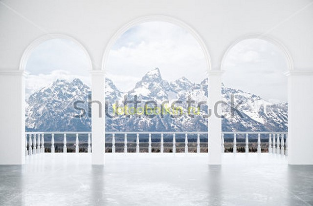 Фотообои Балкон на Альпы