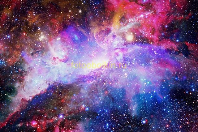 Фотообои Розовый космос