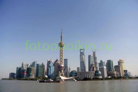 Фотообои Шанхай  центр