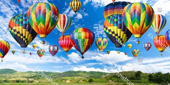 Фотообои Воздушные шары разноцветные