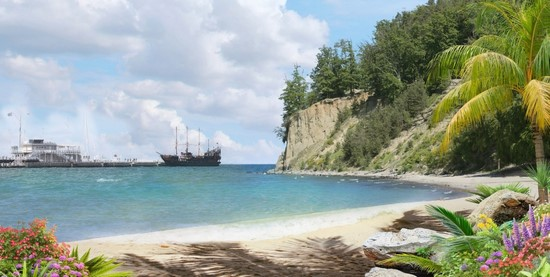 Фотообои Бухта с кораблями