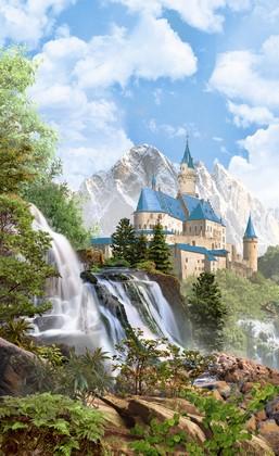 Фотообои Замок с бирюзовой крышей