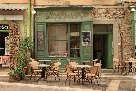 Фотообои Зеленое кафе