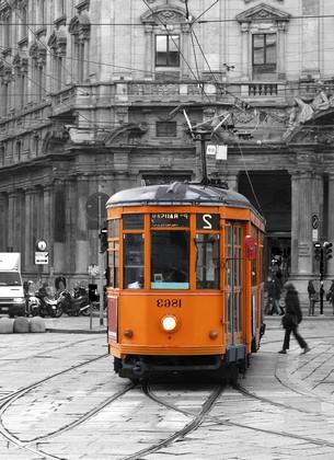 Фотообои Оранжевый трамвай