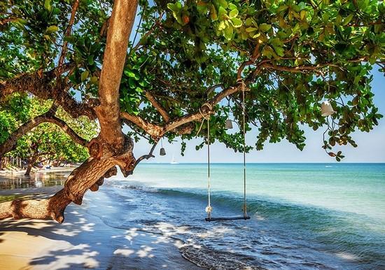 Фотообои Качели на пляже