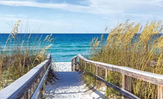 Фотообои Песочный мост к морю