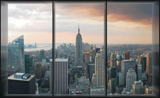 Фотообои Окно в Нью-Йорк