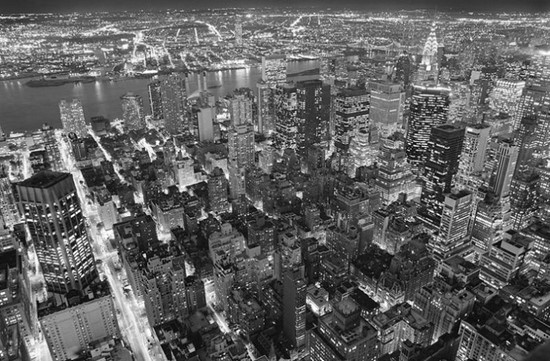 Фотообои Вид на город с птичьего полета