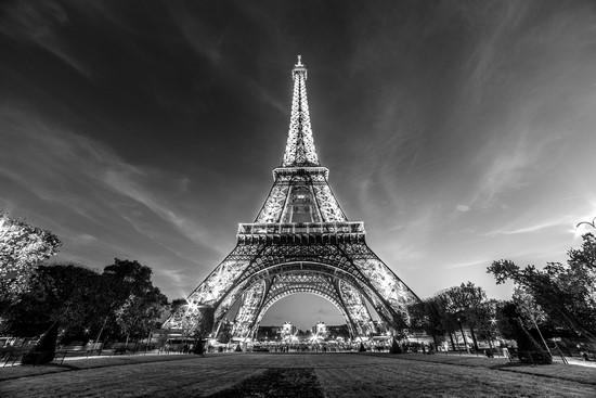 Фотообои Вид из парка на Эйфелевую башню