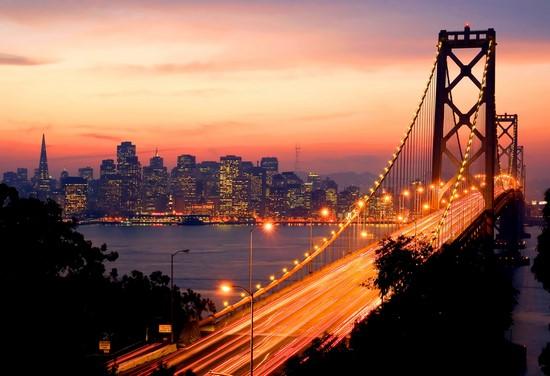 Фотообои Оранжевый мост