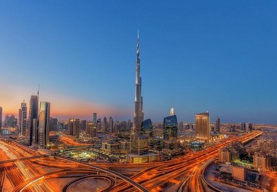Фотообои Дубаи ночной