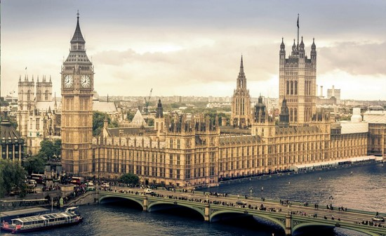 Фотообои Лондон с видом на мост и дворец
