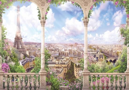 Фотообои Фреска Парижский балкончик