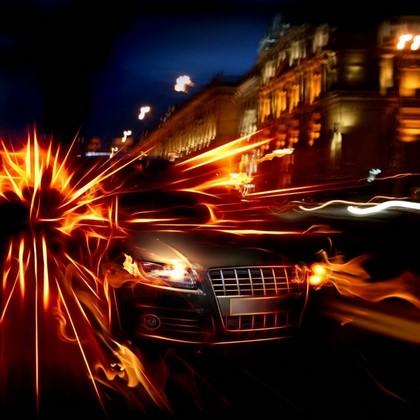 Фотообои Машина в огне