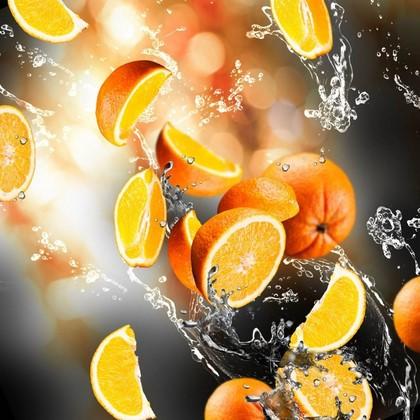 Фотообои Апельсины в движении