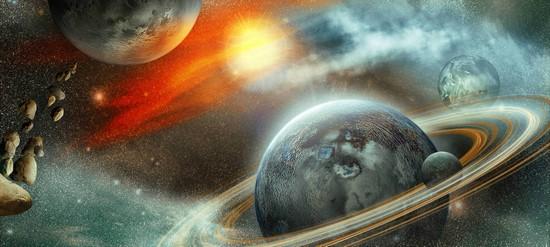 Фотообои Планеты и солнце