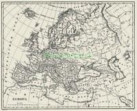Старая карта Европы
