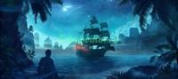 Пиратский корабль в бухте