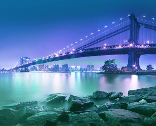 Фотообои Бруклинский мост вид с берега