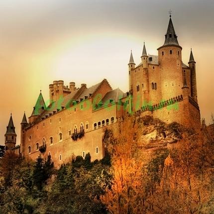 Фотообои Замок на закате