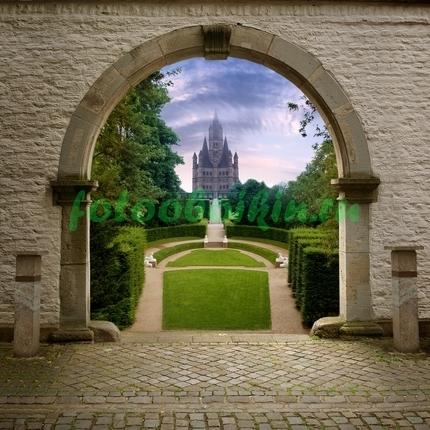 Фотообои Замок с парком
