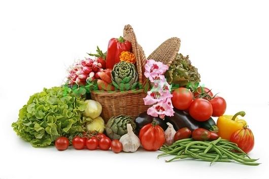 Фотообои Корзина с овощами