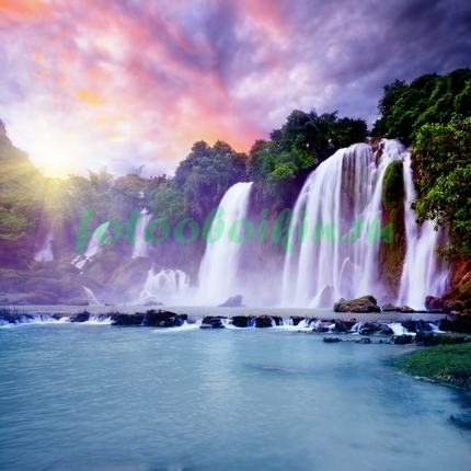 Фотообои Водопад на закате