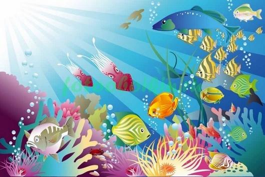 Фотообои Рыбки рисунок