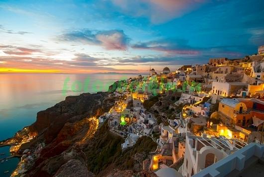 Фотообои Вечер в Греции