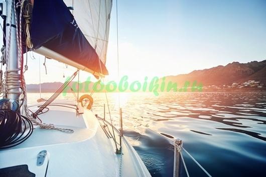 Фотообои Яхта на восходе