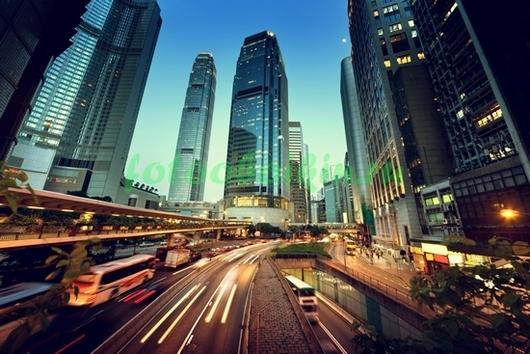 Фотообои Дорога и небоскребы