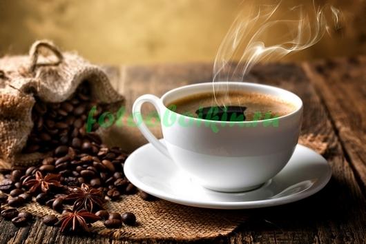 Фотообои Чашечка горячего кофе