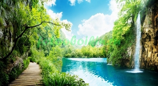 Фотообои Лазурный водопад
