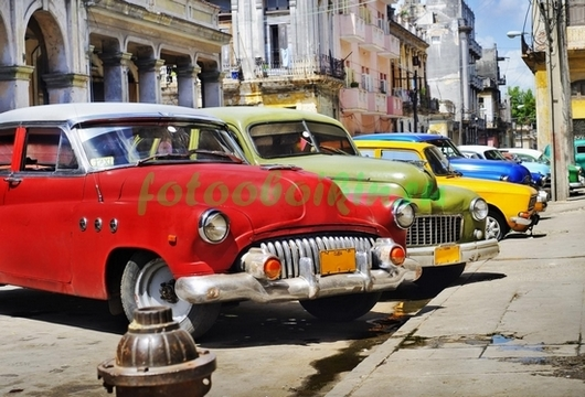 Фотообои Кубинские машины