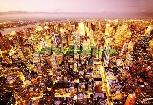 Фотообои Золотые небоскребы