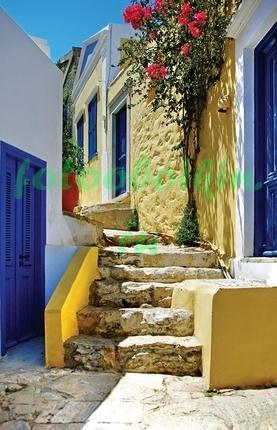 Фотообои Дворик в Греции
