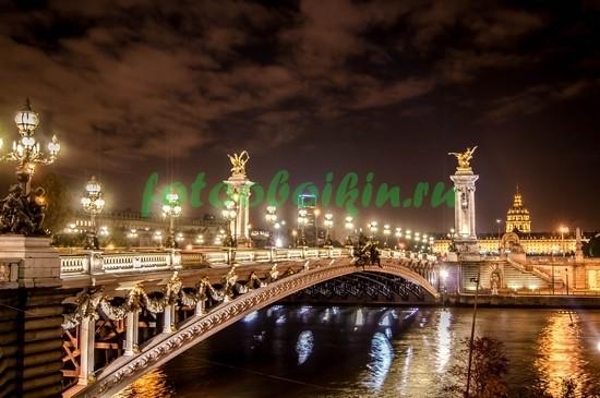 Фотообои Яркие огни Парижа