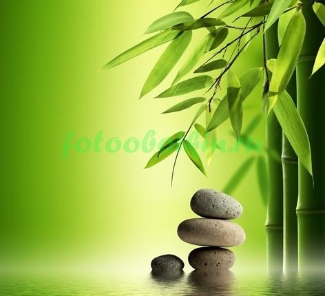 Фотообои Сад комней и бамбук