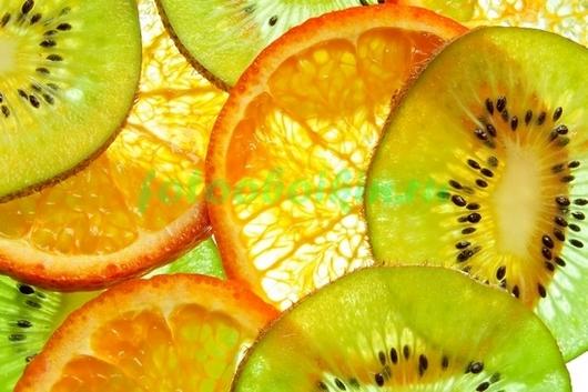 Фотообои Апельсин и киви