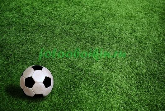 Фотообои Футбольный мяч на поле
