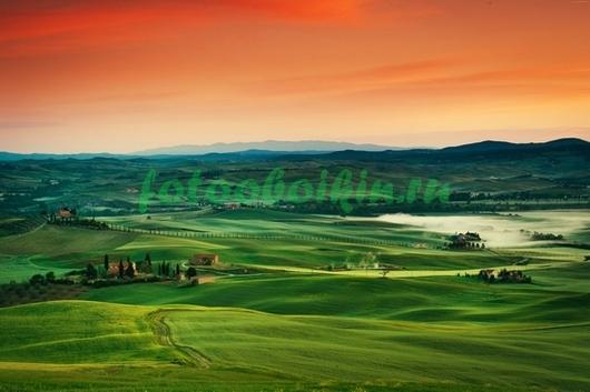 Фотообои Зелёная долина