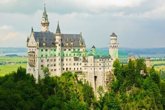 Фотообои Замок в горах