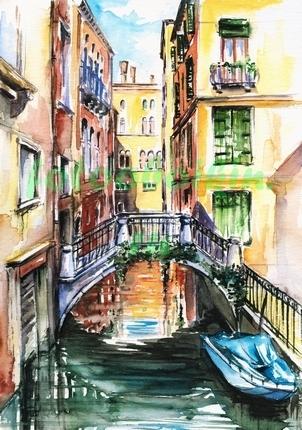 Фотообои Рисунок Венеция