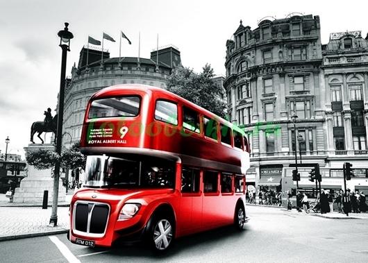 Фотообои Красный лондонский автобус