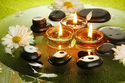 Фотообои Камешки и свечи